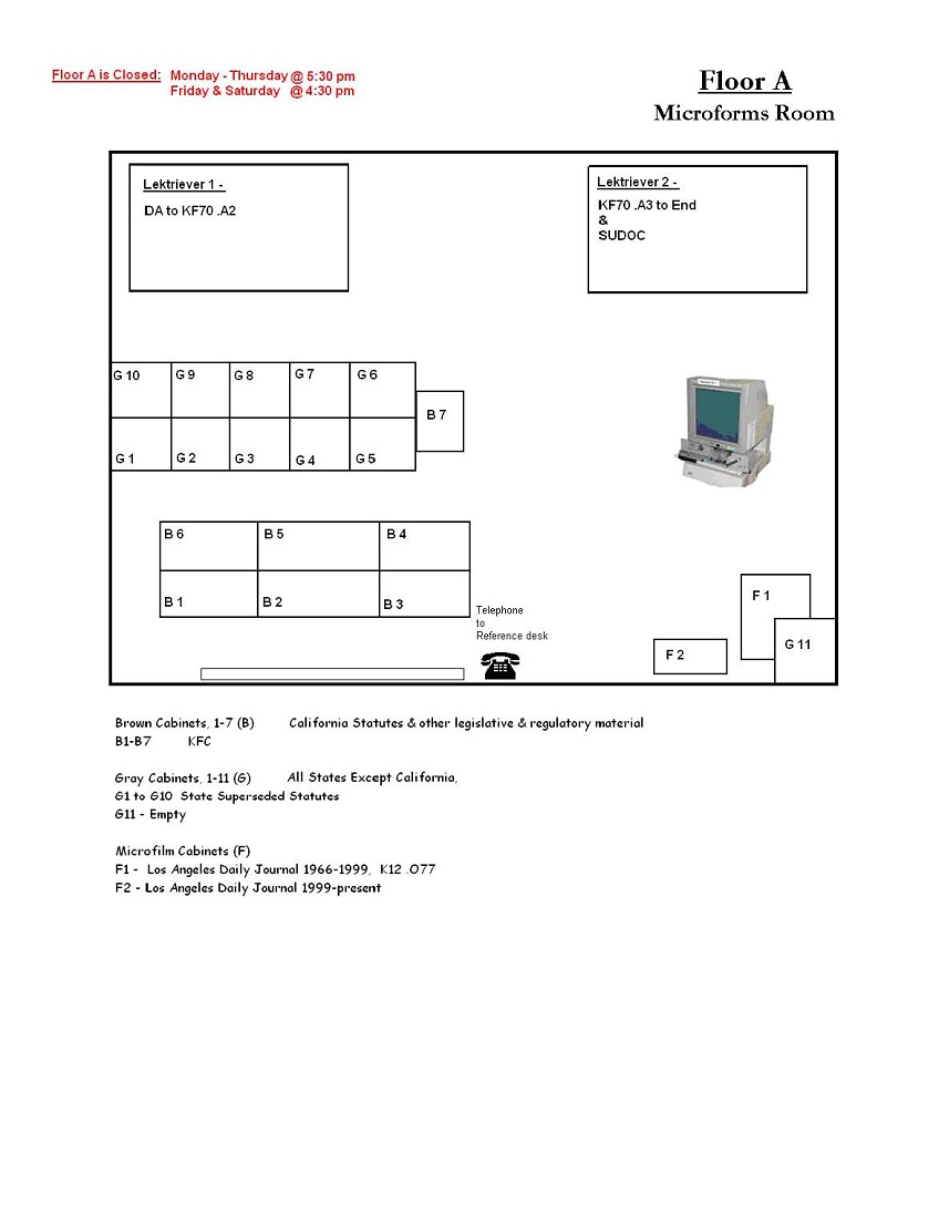 Floor A Microforms Room Map
